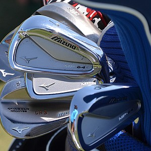 Charles Howell III attacks the greens using these Mizuno MP-64 irons, spotted at TPC Sawgrass during the PGA Tour's 2014 Players Championship in Ponte Vedra Beach, Fla.