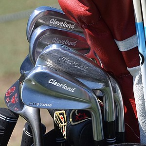 Gonzalo Fernandez-Castano's Cleveland CG1 Tour and 588 Forged CB irons, spotted at TPC Sawgrass during the PGA Tour's 2014 Players Championship in Ponte Vedra Beach, Fla.