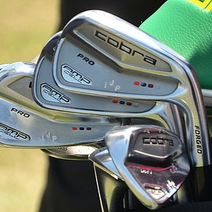 Ian Poulter uses Cobra AMP Cell Pro irons, spotted at TPC Sawgrass during the PGA Tour's 2014 Players Championship in Ponte Vedra Beach, Fla.