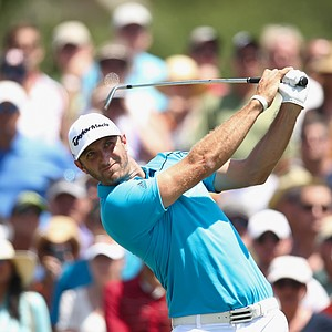 Dustin Johnson during the second round of the 2014 Players Championship at TPC Sawgrass.