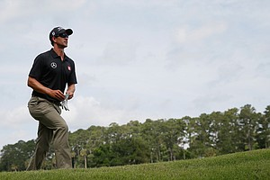 Adam Scott during the third round of the 2014 Players Championship at TPC Sawgrass.