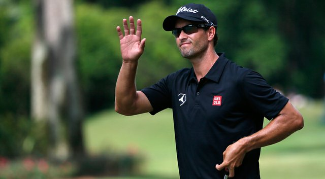 Adam Scott during the third round of the Players Championship at TPC Sawgrass.