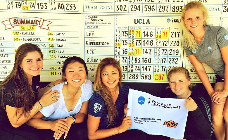 The UCLA Bruins won the NCAA Central Regional by 17 shots Saturday at Karsten Creek Golf Club.