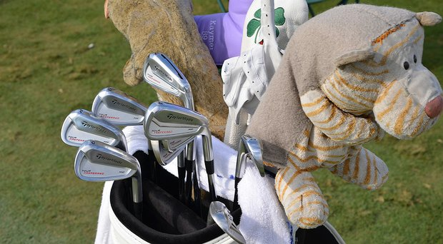 Martin Kaymer's bag during his win at the PGA Tour's 2014 Players Championship at TPC Sawgrass in Ponte Vedra Beach, Fla.