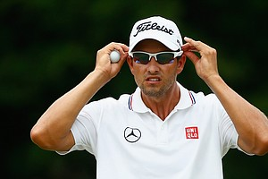 Adam Scott during Sunday's final round of the PGA Tour's 2014 Players Championship at TPC Sawgrass in Ponte Vedra Beach, Fla.