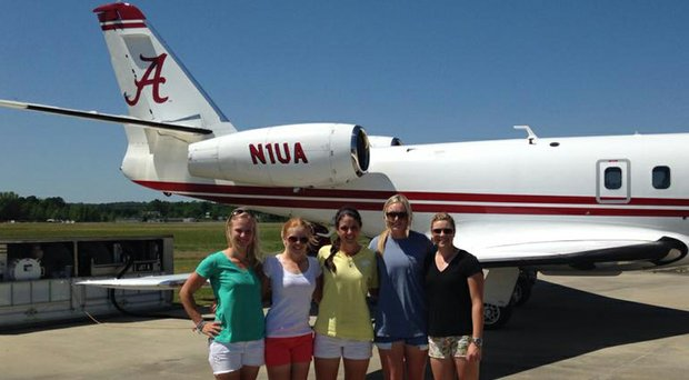 The Alabama women's golf team during its trip to the NCAA Central Regional in Stillwater, Okla.