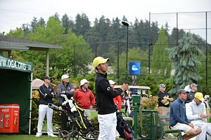 Thomas Lim of Oregon going off the first tee at 8:20 a.m.