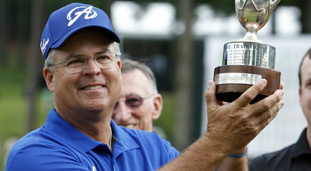 Kenny Perry after his win Sunday at the Champions Tour's 2014 Regions Tradition.