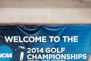 Tulsa Country Club entrance at the Women's 2014 Golf Championships at Tulsa Country Club