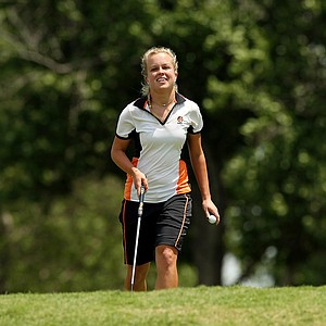 Campbell's Kaylin Yost posted a 69 during the first round the Women's 2014 Golf Championships at Tulsa Country Club.