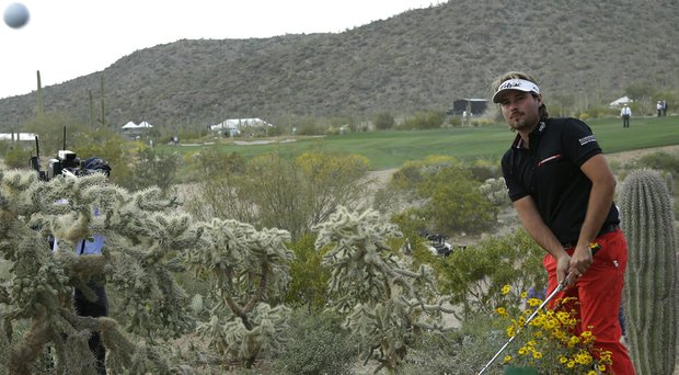 Victor Dubuisson has been suffering from a shoulder injury since missing the cut at the 2014 Masters (shown here at the WGC-Match Play earlier in the year).