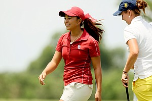 Oklahoma's Alexandra Kaui posted a 69 during the second round of the 2014 NCAA Division 1 Women's Golf Championships at Tulsa Country Club.
