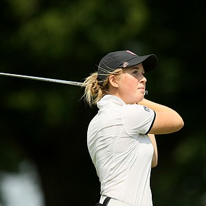 Stanford's Casey Danielson during the second round of the 2014 NCAA Division 1 Women's Golf Championships at Tulsa Country Club.
