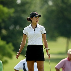 Stanford's Lauren Kim during the second round of the 2014 NCAA Division 1 Women's Golf Championships at Tulsa Country Club.