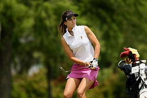 Noemi Jimenez of Arizona State during the second round of the 2014 NCAA Division 1 Women's Golf Championships at Tulsa Country Club.