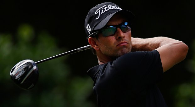 Adam Scott posted a 1-over 71 on Thursday at the Crowne Plaza Invitational.