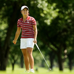 Oklahoma's Alexandra Kaui fell out of her individual lead during Round 3 of the Women's 2014 NCAA Division 1 Golf Championships at Tulsa Country Club.