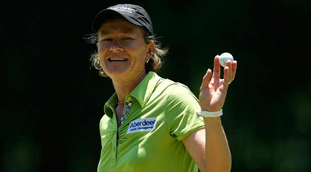 Catriona Matthew posted an 8-under 64 in the first round of the Airbus LPGA Classic.