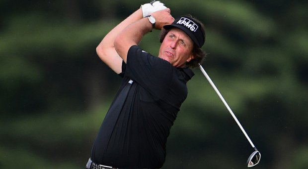 Phil Mickelson at the 2013 U.S. Open at Merion.