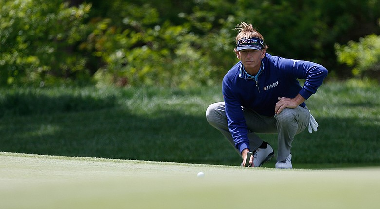Brad Faxon during the first round of the 2014 Senior PGA Championship.