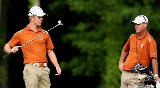 Ryan Murphy (right), shown here at the 2013 NCAA Championship, is the new head coach of the Texas women's team starting May 29.
