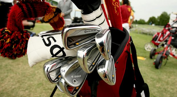 USC's Doris Chen's bag at the 2014 NCAA Division 1 Women's Golf Championships at Tulsa Country Club.
