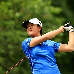 Duke's Celine Boutier during the final round of the Women's 2014 NCAA Division 1 Golf Championships at Tulsa Country Club.