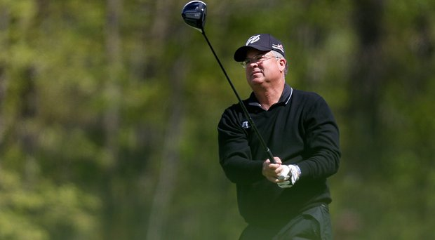 Kenny Perry is well off the pace at the Senior PGA Championship at 3-over 145.
