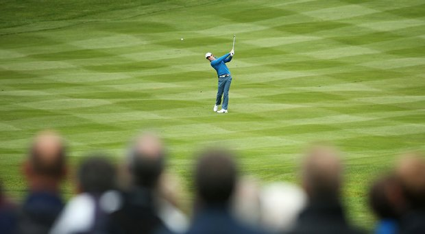 Rory McIlroy posted a 1-under 71 on Friday at the BMW PGA Championship.