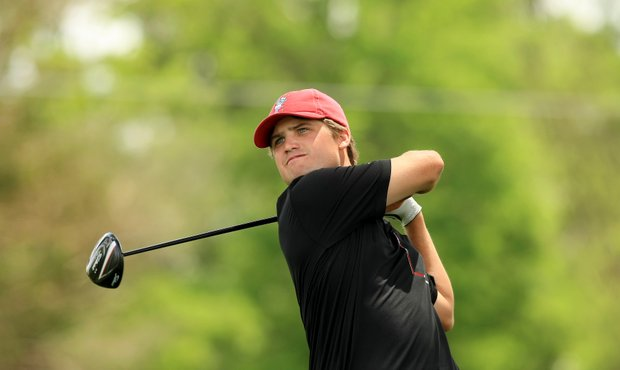 Alabama's Bobby Wyatt during Round 1 of the NCAA Men's Division 1 Championship at Prairie Dunes Country Club in Hutchinson, Kan.
