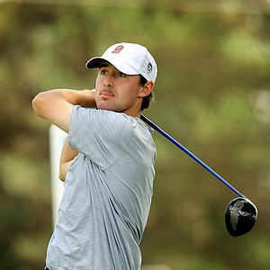 Stanford's Cameron Wilson posted a 63 in his second round during Saturday's play at the NCAA Men's Division 1 Championship at Prairie Dunes Country Club in Hutchinson, Kan.