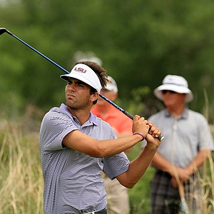 LSU's Curtis Thompson on Monday of the NCAA Men's Division 1 Championship at Prairie Dunes Country Club in Hutchinson, Kan.