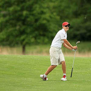 Stanford's David Boote at No. 17 on Monday of the NCAA Men's Division 1 Championship at Prairie Dunes Country Club in Hutchinson, Kan.