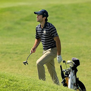 California's Joel Stalter, finishing his third round at No. 18 on Monday of the NCAA Men's Division 1 Championship at Prairie Dunes Country Club in Hutchinson, Kan.