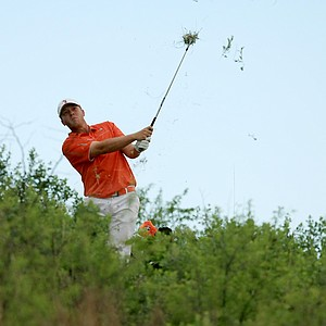 Oklahoma State's Talor Gooch found the thick stuff Monday during the NCAA Men's Division I Championship at Prairie Dunes Country Club in Hutchinson, Kan.