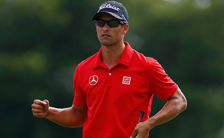 Adam Scott in Uniqlo during the Crowne Plaza Invitational at Colonial.