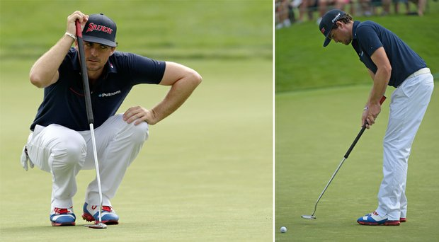 Keegan Bradley used a non-anchored putter on Thursday during the first round of the Memorial.