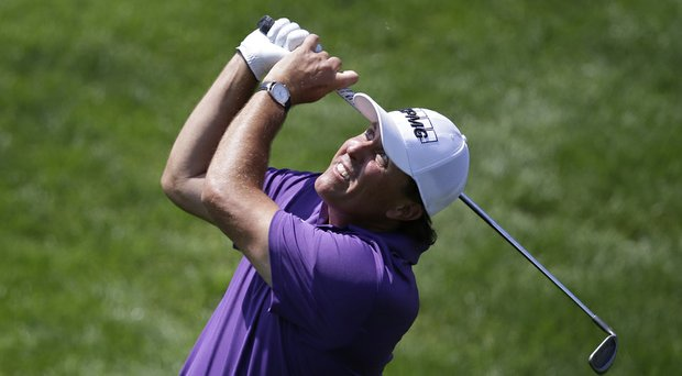 Phil Mickelson during Saturday's third round of the PGA Tour's 2014 Memorial at Muirfield Village in Dublin, Ohio.