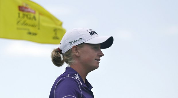 Stacy Lewis will have Sunday's final tee time for the final round of the 2014 ShopRite LPGA Classic.