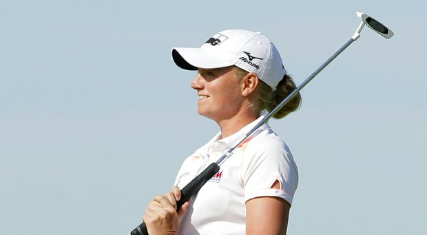 Stacy Lewis during Sunday's final round of her win at the 2014 Shoprite LPGA Classic.