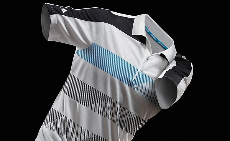 One of Adidas Golf's new climachill golf polo