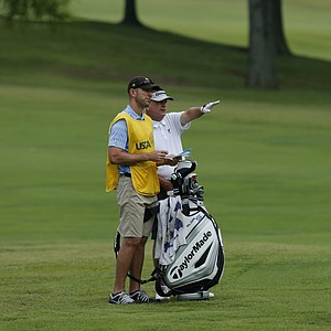 Paul Goydos during the U.S. Open sectional qualifier at Colonial Country Club in Cordova, Tenn.