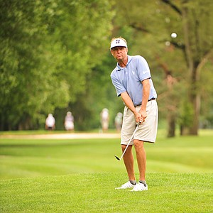 Davis Love III during the U.S. Open sectional qualifier at Brookside Golf and Country Club in Columbus, Ohio.