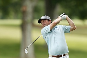 Tim Clark during the U.S. Open sectional qualifier at Colonial Country Club in Cordova, Tenn.