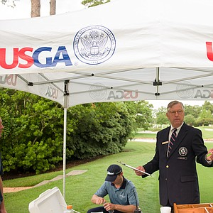 Players begin their rounds of U.S. Open Sectional Qualifier at Lakeside Country Club in Houston.