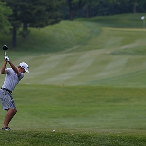 Vince India during the U.S. Open Sectional Qualifier in Springfield, Ohio.