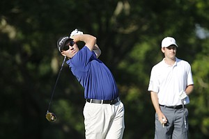Mike Van Sickle during the U.S. Open sectional qualifier at Woodmont Country Club in Rockville, Md.