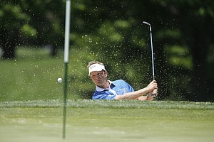 Billy Hurley III during the U.S. Open sectional qualifier at Woodmont Country Club in Rockville, Md.