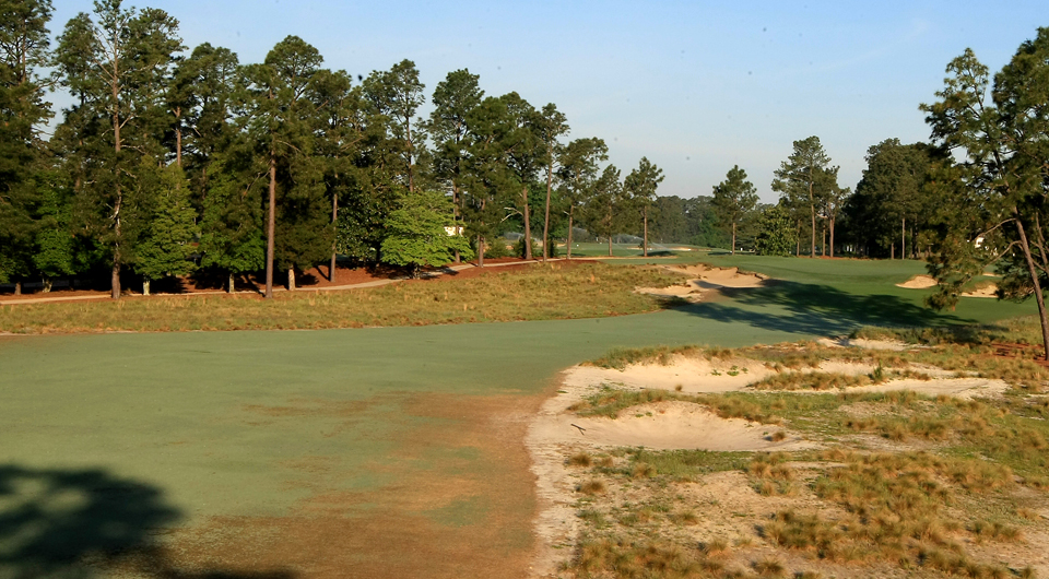 The 13th hole at Pinehurst No. 2, site of the 2014 U.S. Open.