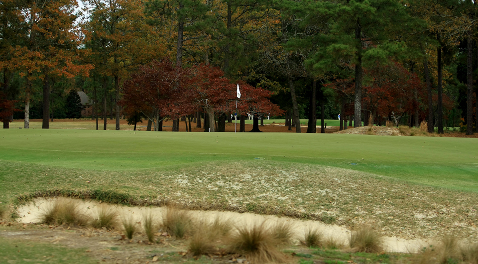 The 15th hole at Pinehurst No. 2, site of the 2014 U.S. Open.